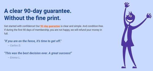 Not Satisfied? Sky Blue has a sweet 90-Day Money Back Guarantee