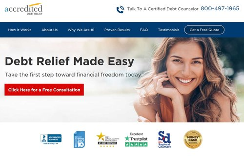 Accredited Debt Relief is one of the Top Debt Settlement Companies.