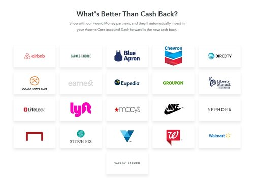 In this Acorns review, we uncover a few of the partnerships in there Found Money Program.