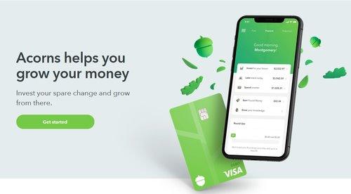 Acorns Beginner friendly investment app