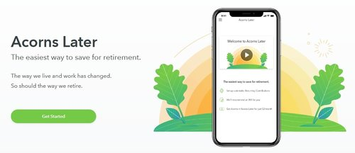 An easy solution to all of your retirement fears. Invest with Acorns Today.