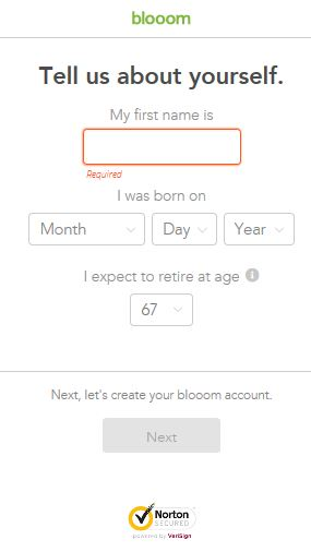 Blooom - A financial service company that specializes in 401k optimization.