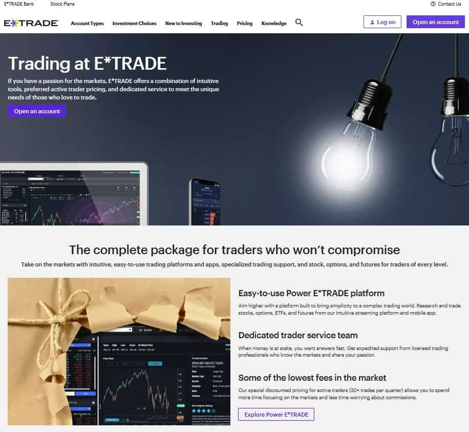 E - Trade Online Brokerage: Best For Active Traders + Financial Education