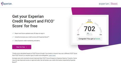 Experian Boost - A Top Credit Repair Software