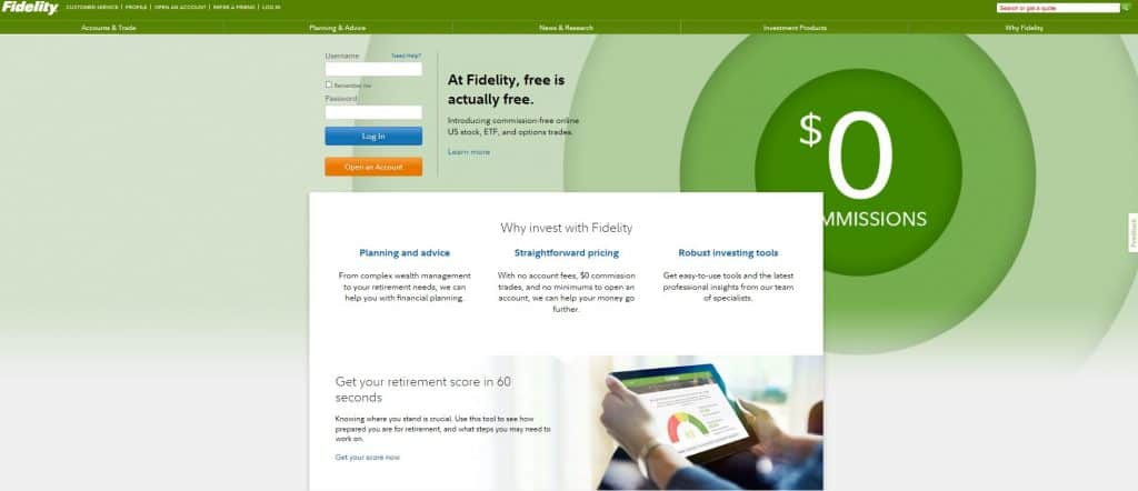 Fidelity Investments - Another Great Online Stock Brokerage for Passive Investors
