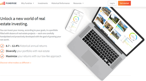 Fundrise allows you to make money online by investing in real estate.