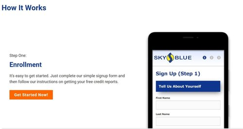 How to Sign Up for Sky Blue Credit Repair.