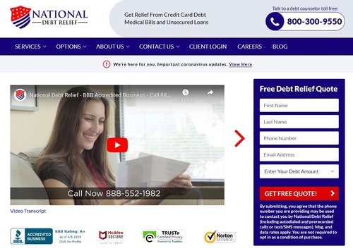 National Debt Relief is a reputable debt settlement company and can be what you need to get out of debt.
