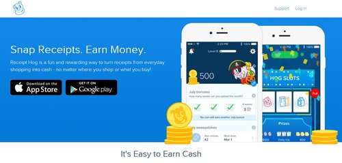 Simply scan your receipts and start earning easy money with this mobile app.