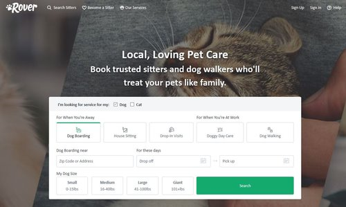 Another great app to make money, Rover allows you to walk dogs for others and get paid to do it.