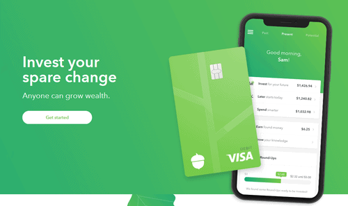 Acorns is an Investing app that invests your spare change. Stash tells you what you should invest in.