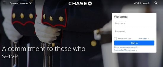 Chase Bank is a bank that offers military members great perks.