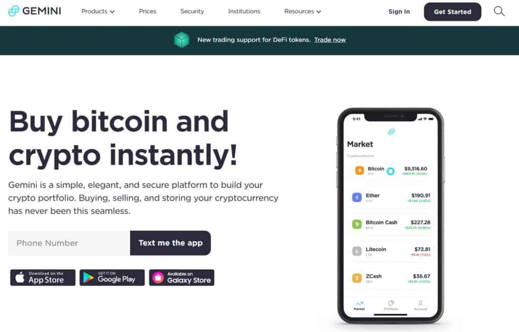 Gemini Cryptocurrency Exchange Review